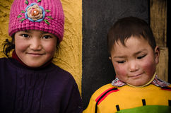 North India children. Gave embarrassed smile to the camera Royalty Free Stock Photo
