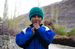 North India little boy. With blue cap Stock Image