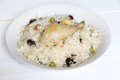 North Indian dish, Chicken pulao Royalty Free Stock Photo