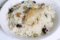 North Indian dish, Chicken pulao Stock Images