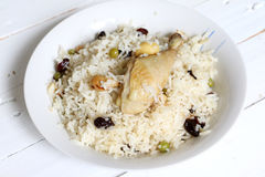 North Indian dish, Chicken pulao Stock Photography