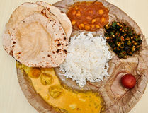 North Indian Meal Stock Images