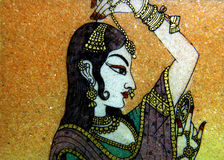 North Indian stone painting Royalty Free Stock Image