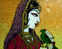 North Indian stone painting Royalty Free Stock Images