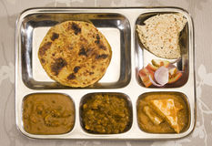 North Indian Thali Royalty Free Stock Photo
