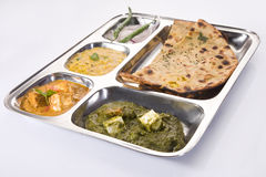 North Indian Thali Royalty Free Stock Photos