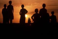 1993 North Iraq - Kurdistan. Boys play on sandy hills Stock Images