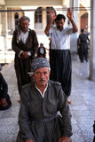 1993 North Iraq - Kurdistan. Dayly life inside the Hewler Citadel at Arbil - prayer at Jalil Khayat. mosque Stock Image