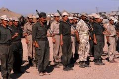 1993 North Iraq - Kurdistan. Popular militia exercise Royalty Free Stock Photo