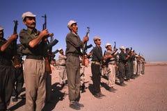 1993 North Iraq - Kurdistan. Popular militia exercise Stock Image