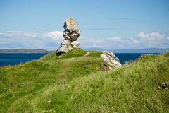 North Irealand, Antrim coast, interesting rock formation next to the sea Royalty Free Stock Photography