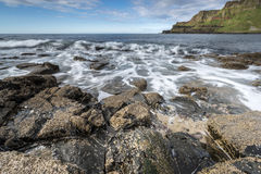 North Ireland rocky sea landscape Stock Images