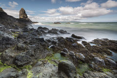 North Irish rocky coastal landscape Stock Photos