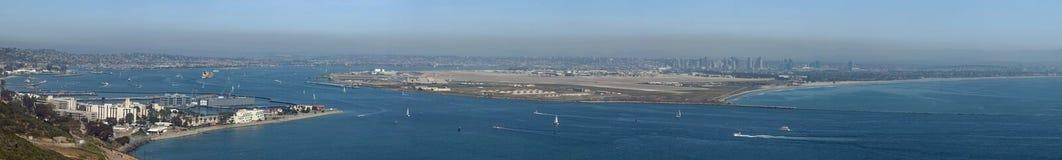 North Island Base San Diego panoramic. North Island NAS panoramic from point Loma Stock Photos