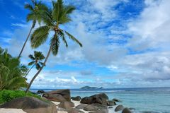 North Island. Seen from Silhouette island in the Seychelles archipelago. These islands form part of the 115 islands of the Seychelles Stock Photo