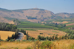 North Israel. View of the Golan. North Israel Royalty Free Stock Images