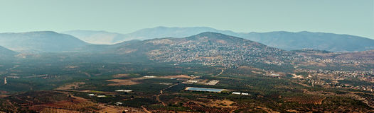 North Israel . View of the lower Galil Israel royalty free stock photos