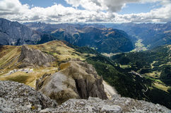 North Italian mountain landscape - Trentino alto Adige. View from the top of the mountain stock image