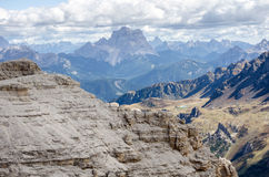 North Italian mountain landscape - Trentino alto Adige. View from the top of the mountain stock photos