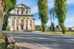 North Italy. Sanctuary Madonna della Ghianda royalty free stock photos