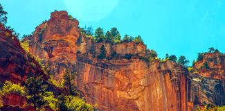 North Kaibab Trail in Grand Canyon National Park, Arizona, United States of America.  stock photo