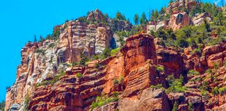 North Kaibab Trail in Grand Canyon National Park, Arizona, United States of America royalty free stock images