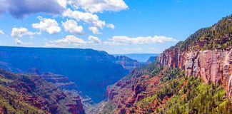 North Kaibab Trail in Grand Canyon National Park, Arizona, United States of America stock photography