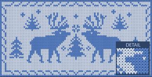 North khitted pattern with deers Royalty Free Stock Photos