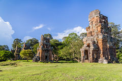 North Khleang towers in Angkor Thom  complex Royalty Free Stock Photo