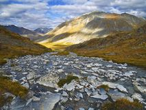 North Klondike River tributary in Autumn Stock Image