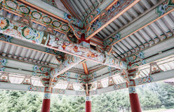 North korea 2011. Traditional ancient building decoration in North Korea.Here is the Corea Stock Photos