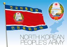 North Korea Army flag and coat of arms Royalty Free Stock Photography