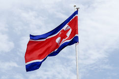 North korea flag Royalty Free Stock Photos