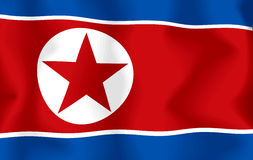 North Korea Flag. Flag of North Korea, computer generated illustration with silky appearance and waves Vector Illustration