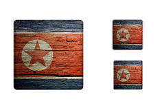 North-korea Flag Buttons Royalty Free Stock Image