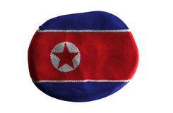 North korea flag,flag clay on white background Royalty Free Stock Photography