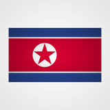 North Korea flag on a gray background. Vector illustration Royalty Free Stock Image
