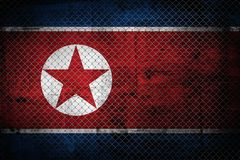 North Korea flag Royalty Free Stock Photo