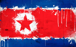North Korea flag Stock Photography