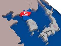North Korea with flag Stock Photo