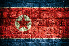 North Korea flag Stock Photo
