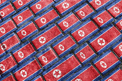 North Korea Flag Urban Grunge Pattern Royalty Free Stock Photos