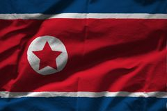 North korea flag. On a white background stock images