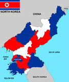 North korea map Stock Image