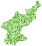 North Korea map Stock Photography