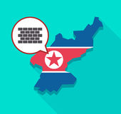 North Korea map with  a brick wall Stock Images