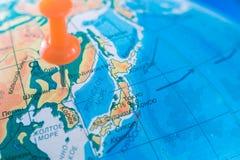 North Korea mark on the map concept. Stock Photo