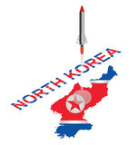 North Korea Missile Launch Royalty Free Stock Images