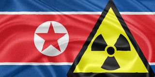 North Korea and nuclear Royalty Free Stock Images