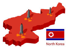 North Korea. And nuclear bombs, illustration Royalty Free Stock Photography